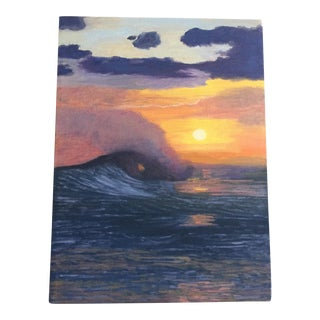 Santa Barbara Sunset Wave Painting For Sale