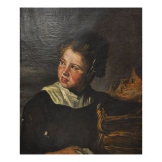 Dutch School Oil Portrait After Frans Hals 19th Century For Sale