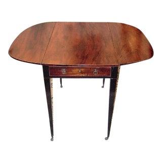 18c Irish George II Mahogany Pembroke Table For Sale