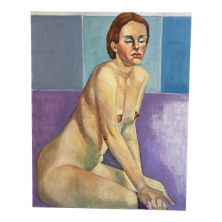 Modern Female Nude Oil Painting on Canvas