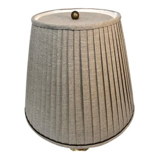 Paul Ferrante Custom Pleated Linen Shades With Matching Top Diffuser