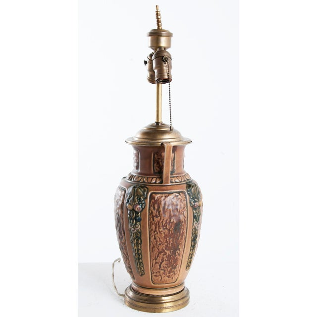 American 1910s Earthenware Lamp For Sale - Image 3 of 6