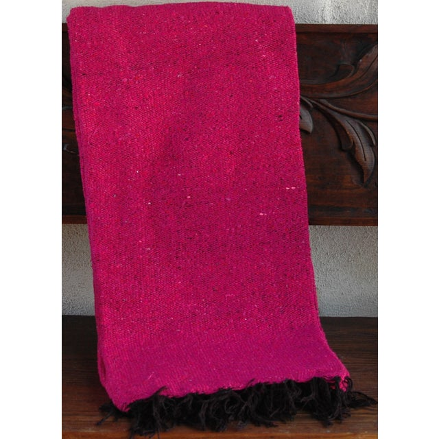 Mexican Boho Chic Fuschia Yoga/Beach Blanket - Image 2 of 3