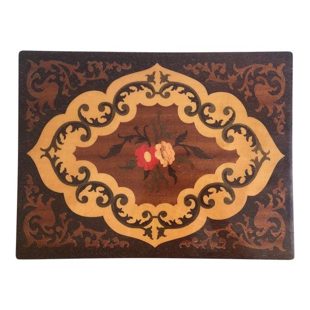 Large Italian Inlaid Wood Jewelry Box Vintage - Image 1 of 11