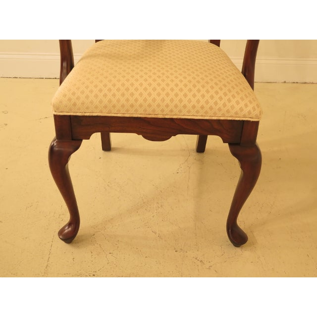 Harden Furniture 1990s Vintage Harden Furniture Cherry Wood Queen Anne Style Dining Room Chairs - Set of 6 For Sale - Image 4 of 13