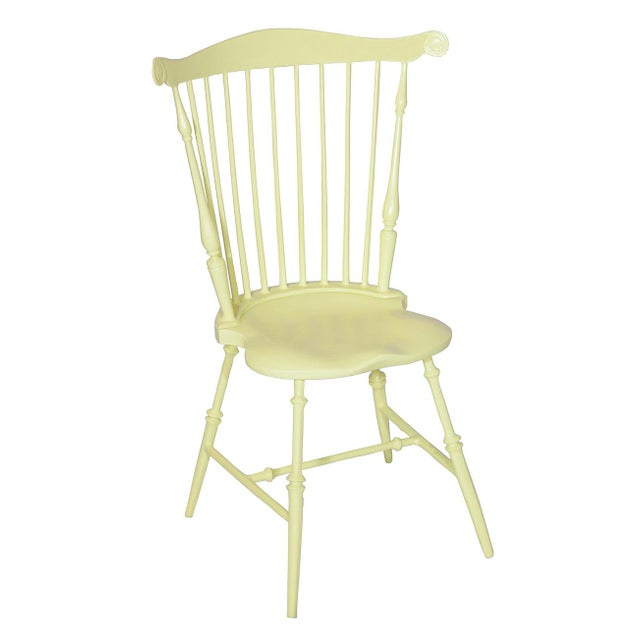 American Fanback Outdoor Chair in Leamon Syrup For Sale - Image 3 of 3