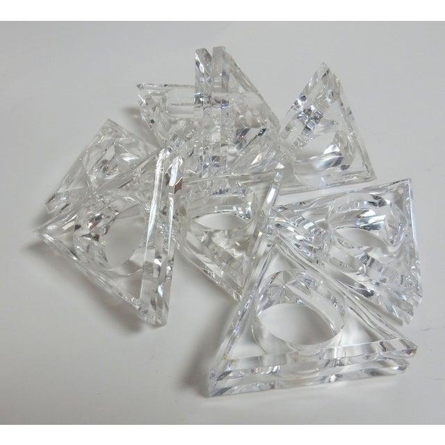Mid-Century Modern Acrylic Napkin Rings - Set of 8 - Image 5 of 5
