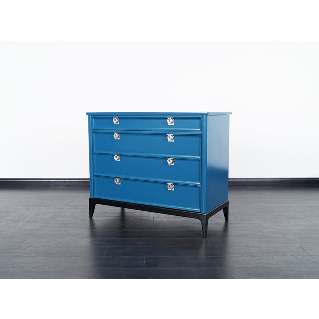 Vintage Lacquered Chest of Drawers - Image 5 of 8