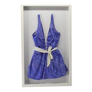 Vintage Purple Bathing Suit Framed For Sale