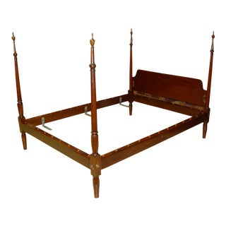 Kittinger Colonial Williamsburg Mahogany Full Size Poster Bed For Sale