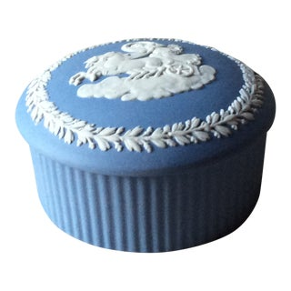 Wedgwood Blue Jasper Ring/Trinket Box For Sale