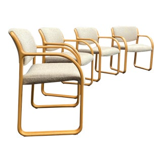 Steelcase Bentwood Armchairs - Set of 4 For Sale