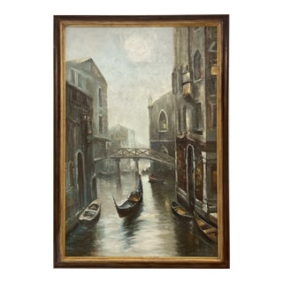 "Mid-Century ""Venice Canal W/Gondolas"" For Sale"