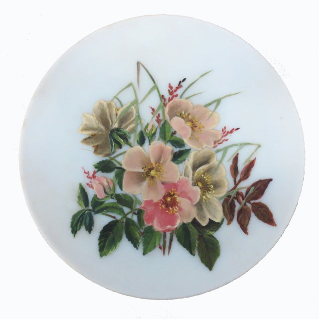 Hand-Painted Pink Floral Charger - Image 2 of 4