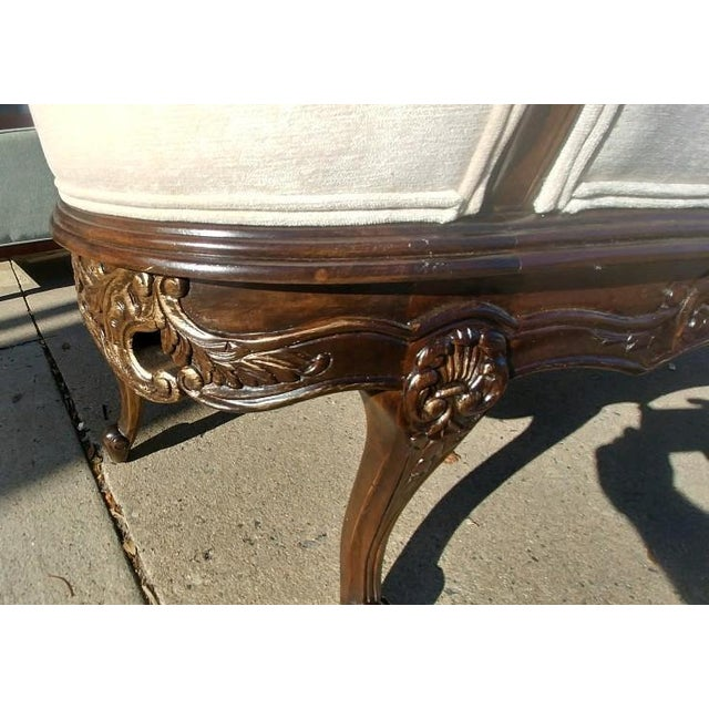 Henredon Henredon Furniture Sabine Mahogany Left Arm Chaise For Sale - Image 4 of 12