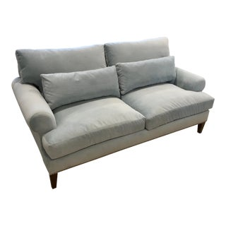 Custom Robin's Egg Blue Sofa For Sale