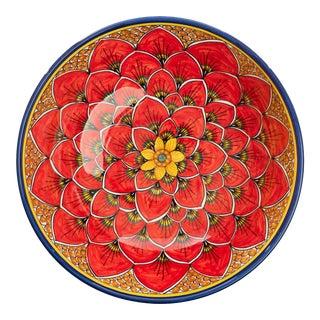 Salad Bowl Red Peacock Design, Geribi For Sale