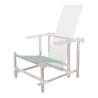 Rietveld Chair Identical Copy in Plexiglass, circa 1980
