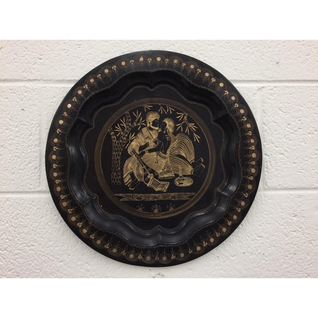 Vintage Indian Etched Charger For Sale - Image 5 of 9