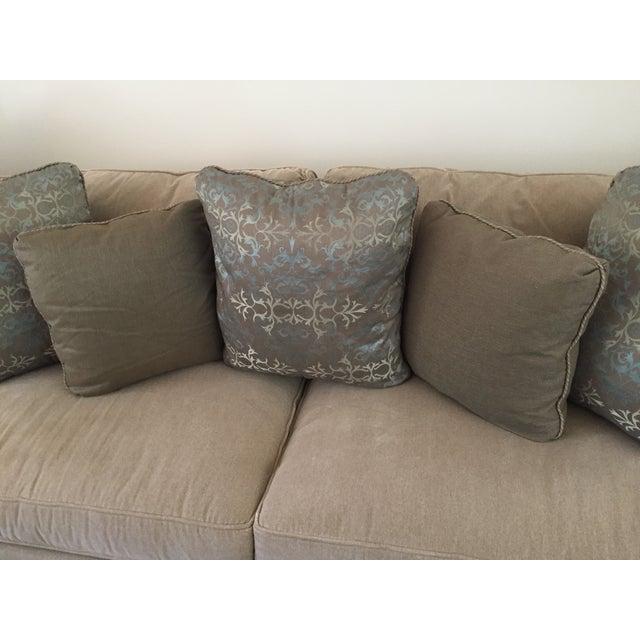 Baker Silk Jacquard Pillows - Set of 3 For Sale - Image 5 of 6