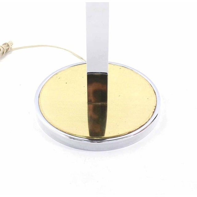 Mid-Century Modern Mid-Century Modern Smoked Glass Side Table Floor Lamp For Sale - Image 3 of 5