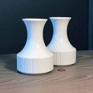 1970s Vintage Op Art Rosenthal Studio-Linie White Porcelain Bud Vase Preview