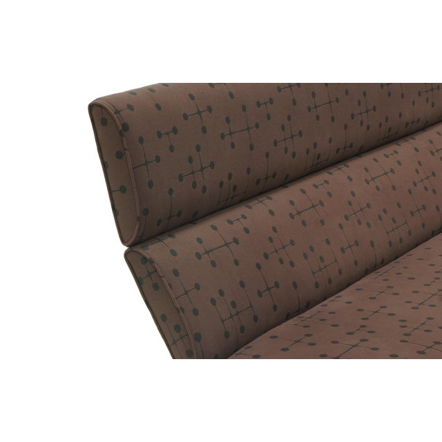 1950s Charles and Ray Eames Sofa Compact for Herman Miller in Eames Dot Pattern Fabric For Sale - Image 5 of 10