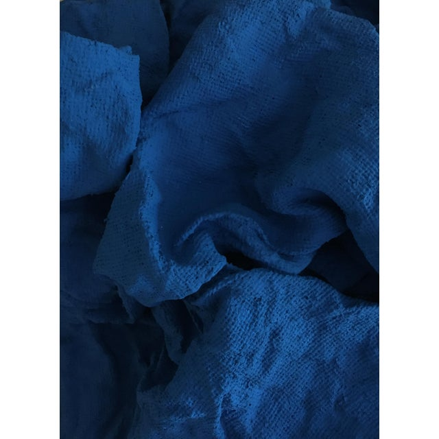 """Chloe Hedden """"Electric Blue Folds"""" Mixed Media Wall Sculpture For Sale - Image 4 of 6"""