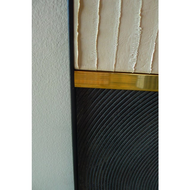 Paul Marra Textured Wall Art Triptych by Paul Marra For Sale - Image 4 of 9