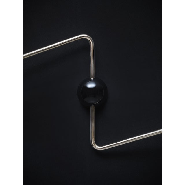 Beghina Due Bracci Wall Light in Black and Brass For Sale - Image 4 of 6