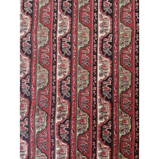 """Vintage George Smith """"Chinese Stripe"""" Fabric- 2 Yards For Sale"""