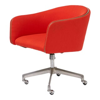 Alexander Girard Red Swivel Office Chair For Sale