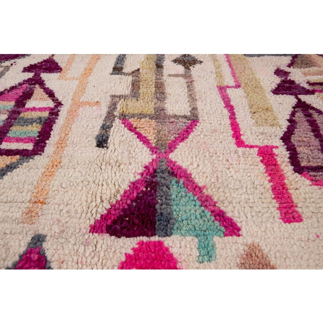 Textile Vintage Azilal Moroccan Wool Rug For Sale - Image 7 of 12