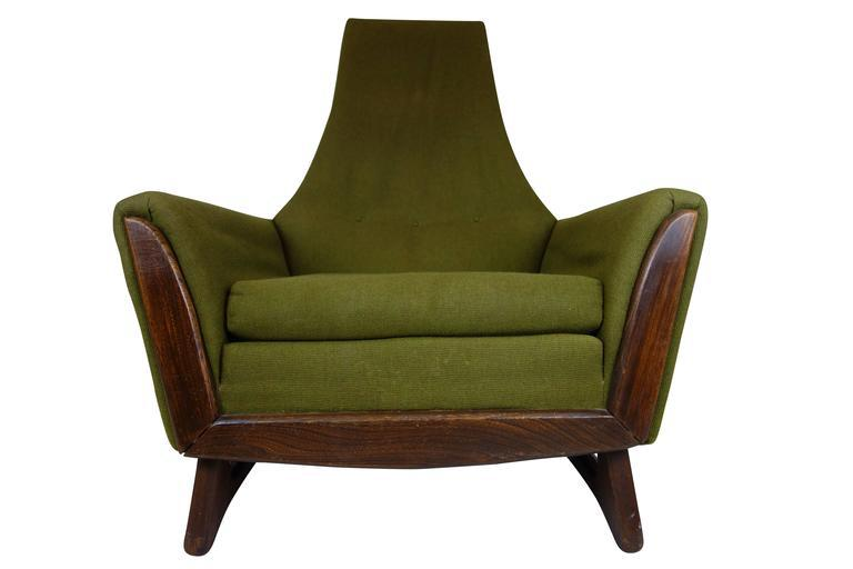 Adrian Pearsall High Back Lounge Chair With Walnut Base   Image 3 Of 3