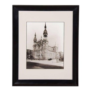 """Vintage Black and White Photograph of """"Temple Emanu-El""""in New York City For Sale"""
