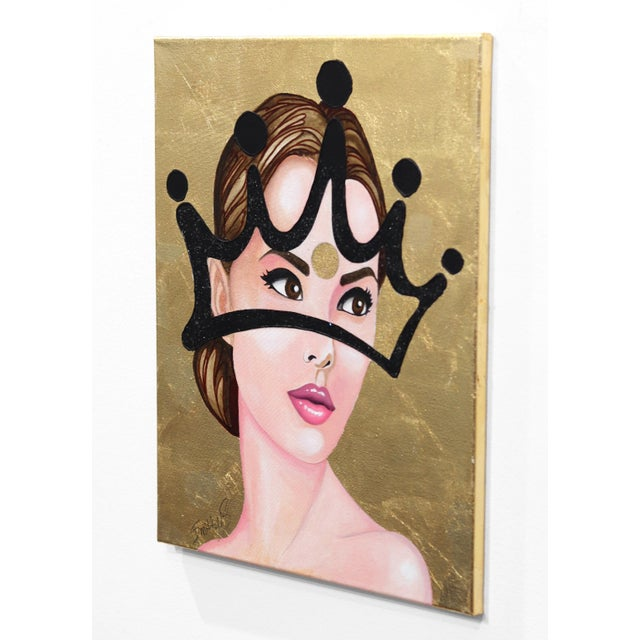 ''Reign'' Contemporary Mixed-Media Portrait Painting by Brian Smith For Sale In Los Angeles - Image 6 of 9