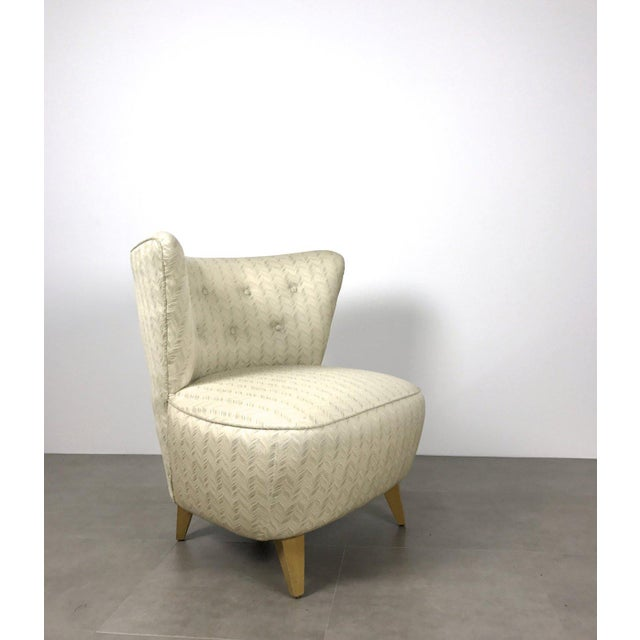 Vintage Gilbert Rohde Style Wingback Slipper Lounge Chair For Sale In Detroit - Image 6 of 6