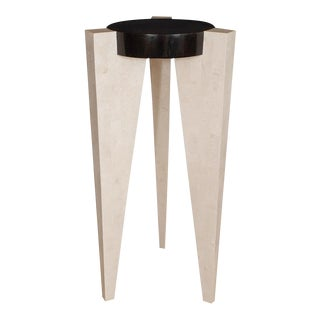 Tessellated Stone Post Modern Style Pedestal For Sale