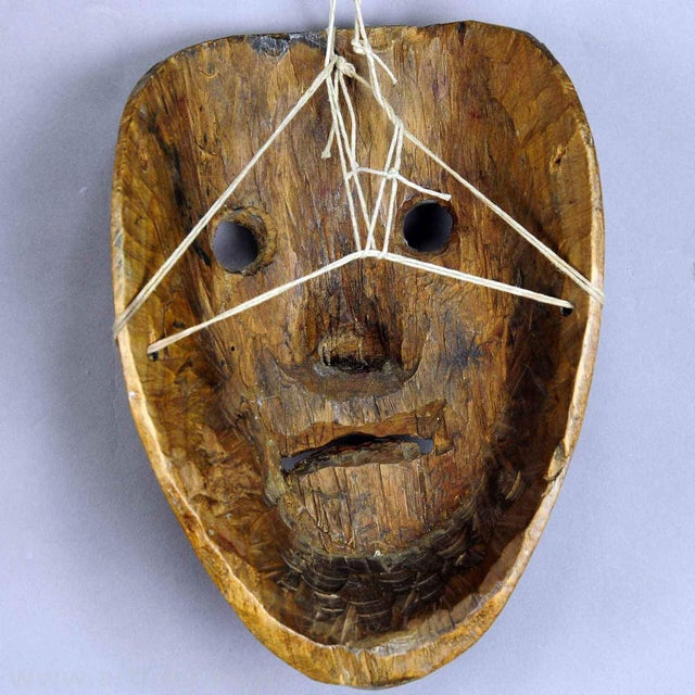 Folk Art A Nice Carved And Painted Tyrolian Carnival Fasnet Mask For Sale - Image 3 of 4