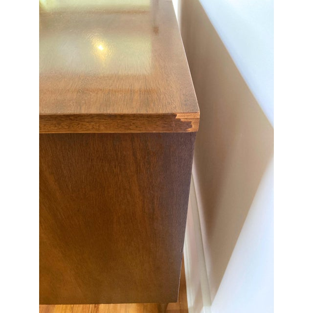 Mid 19th Century Mid Century Modern Bassett 9 Drawer Lowboy Dresser For Sale - Image 9 of 12
