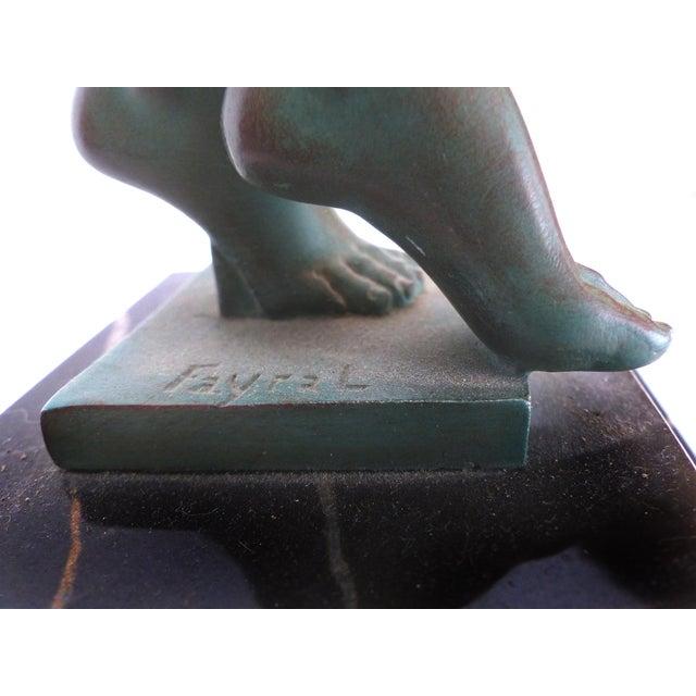 Turquoise Art Deco Sculpture by Pierre LeFaguay For Sale - Image 8 of 10