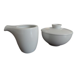 "Sugar Bowl and Creamer Set by Rosenthal Porcelain of Germany - Studio Line ""Yono"" For Sale"
