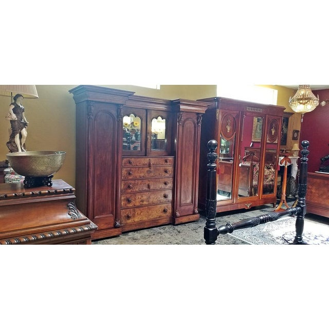Early 19th Century British Mahogany Gothic Revival Wardrobe For Sale - Image 10 of 13