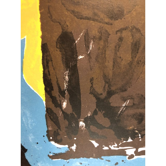Blue 1966 Abstract Lithograph New York Artist For Sale - Image 8 of 10