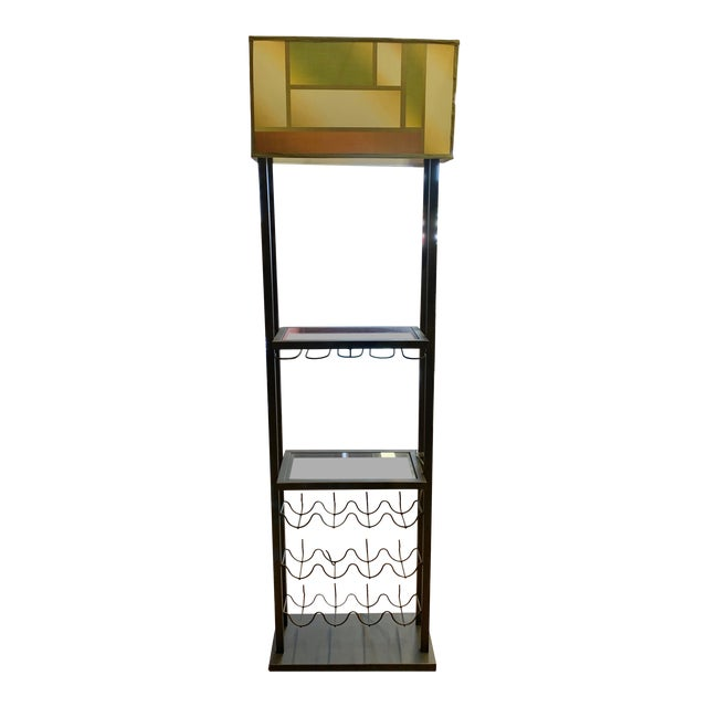 Van Teal Bacchus Wine Rack Floor Lamp For Sale