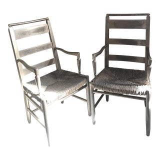 Grey / Silver Large Baker Chairs - a Pair