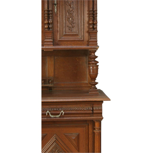 Brown Antique French Renaissance Carved Buffet Server For Sale - Image 8 of 8