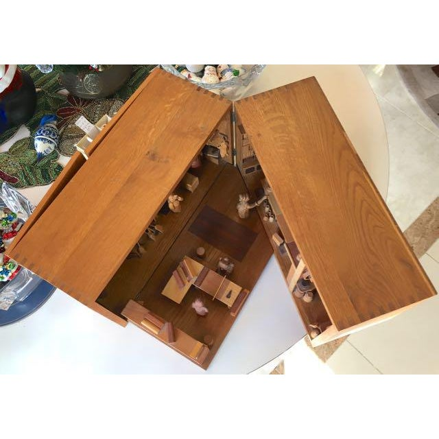 Hand Carved Wood With Marquetry General Store Model Diorama For Sale - Image 10 of 11