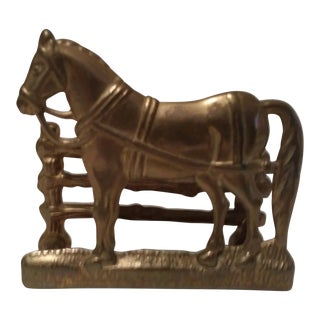 Solid Brass Horse Business Card Holder