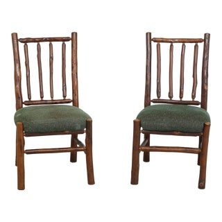 Flat Rock Furniture Rustic Adirondack Chairs - a Pair For Sale